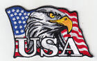 50 Pcs Eagle USA in USA Flag Embroidered Patches 3x4 iron on
