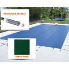 Mesh 16 ft x 32 ft Rectangle Inground Pool Safety Cover Green 12 Yr Warranty