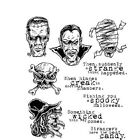Stampers Anonymous tim Holtz Monstrous Cling Mount Stamps CMS 307