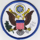 50 Pcs US SEAL White Blue Embroidered Patches 35 Dia iron on