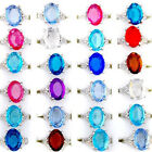 Wholesale Resale 30pcs Lots Mixed Women's Crystal Silver Plated Rings Jewelry MM