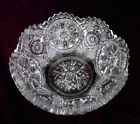 """Pressed Glass Bowl 5"""" - 4 Mold Seam Lines - Clear - Stars"""