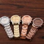 HOT Luxury Geneva Womens Girl Watch Crystal Stainless Steel Quartz Analog Wrist