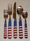 SAKURA CHINA PLASTIC AND STAINLESS FLATWARE COLONIAL PATTERN 5 PC PLACE SETTING
