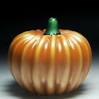 Orient  Flume orange pumpkin sculpture paperweight