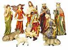 Large 60cm 11 Piece Hand Painted Resin Christmas Nativity Scene Indoor Outdoor