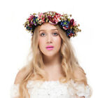Valdler Vintage Berry Flower Crown Wedding Wreath Floral Headband Bride Garlands