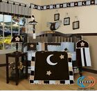 Baby Boutique Brown Blue Star  Moon GEENNY 13PCS Nursery CRIB BEDDING SET
