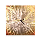 Modern Metal Wall Clock Approaching Sun II Contemporary Modern Decor Ash Carl