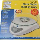 BIGGEST LOSER Glass Digital Kitchen Scale Taylor Model 3831B w 66 lb Capacity