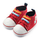 New Red Cute Baby Canvas Charm Infant Toddler Baby Soft Sole Crib Shoes Sneaker
