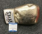 Floyd Mayweather Signed Gold Boxing Glove AUTO Beckett BAS WITNESSED COA