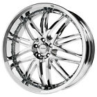 4 NEW Verde V55 Kaos 18X8 5x108 +38mm Chrome Wheels Rims
