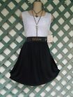 DEREK HEART WHITE BLACK GOLD SPARKLE STUDDED DRESS 2X NEW CHURCH PARTY CASUAL