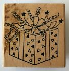 Embossing Arts Rubber Stamp Happy Birthday Gift Box 225 x 225