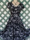 STYLE  CO BLACK WHITE FLORAL FLIRT DRESS MP CAREER CHURCH PARTY WEDDING