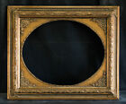 Antique Reproduction Ornate Oval Gold Frame 16 x 20 2 1 2 Wide 1 Thick