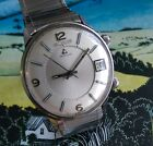 Jaeger LeCoultre Memodate Alarm Watch with Date Cal. K911 Steel Memovox -Amazing