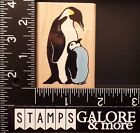 INKADINKADO USED RUBBER STAMPS 4274 PENGUIN AND BABY ANIMAL