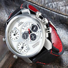 DETOMASO Casabona Mens Watch Multifunction Stainless Steel Dual Time Zone New