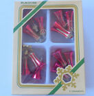 4 Vintage Rauch Red Glass Bell Cluster Christmas Ornaments