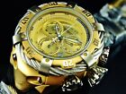 NEW Invicta Men's Reserve 56mm Thunderbolt Swiss Chronograph Gold Dial SS Watch