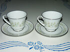 Beautiful NORITAKE SAVANNAH (2031) PATTERN CHINA 2 CUPS & 2 SAUCERS 4 Piece Lot