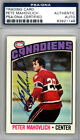 Peter Mahovlich Autographed Signed 1976-77 Topps Card Montreal Canadiens PSA DNA