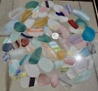 1 pound tumbled Beach glass w Hearts Art Glass Great colors useful pieces