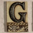 Alphabet Tile Plaque Letter G