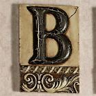 Alphabet Tile Plaque Letter B