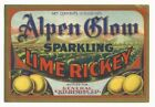 1930s Alpen Glow Sparkling Lime Rickey Label San Francisco CA