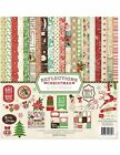 Echo Park REFLECTIONS OF CHRISTMAS Collection Kit 12x12 Scrapbook paper sticker