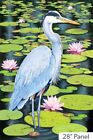 Northcott Naturescapes Blue Heron Quilt Fabric 24 X 44 Panel