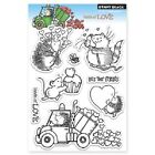 PENNY BLACK RUBBER STAMPS CLEAR LOADS OF LOVE NEW clear STAMP SET
