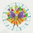 NEW Forest Fairy Handpainted Needlepoint Canvas Ornament 475 Rd by dede