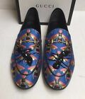 NEW Gucci Jordaan Bee Jacquard Ant Loafers Flats Shoes SZ 10 40