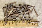 """ OLD NAILS 50 vintage BRADS REAL 1850's square rusty patina 3/16"" large head"