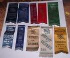 10 Daughters of the American Revolution DAR Ribbons 20s 30s Congress  Wash DC