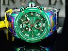 Invicta Men's Pro Diver Scuba Chronograph Rainbow Iridescent Green Dial SS Watch