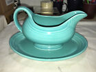Fiesta SAUCE/GRAVY BOAT with UNDERPLATE - TURQUOISE