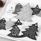 Simple Merry Christmas Hanging Card Gift Tag Wedding Party Xmas Ornaments Decor