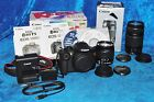 Canon EOS Rebel T5 180 MP Digital SLR Camera 18 55mm  75 300mm Lenses Black