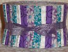 Jelly Roll Strips Quilting Fabric 20 25 Turquoise Lavender White Floral Tonal