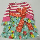 NWT Girl size 2 PRETTY Pink Red REMAKE Boutique Pullover Multi Pattern DRESS 2T