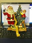 FITZ AND FLOYD 2004 CHRISTMAS SANTA STOCKING HOLDER NEW IN BOX HARD TO FIND