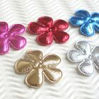 60pc x 15 Padded Shiny Felt Flower Appliques for Christmas Wedding Craft ST608