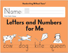 Handwriting Without Tears Letters and Numbers for Me Kindergarten NEW