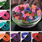 Bulk New 4 6 8 10mm Jelly Like Round Crystal Glass Loose Spacer Beads Findings