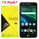 2 Pack Premium Tempered Glass Screen Protector For LG Fortune Cricket